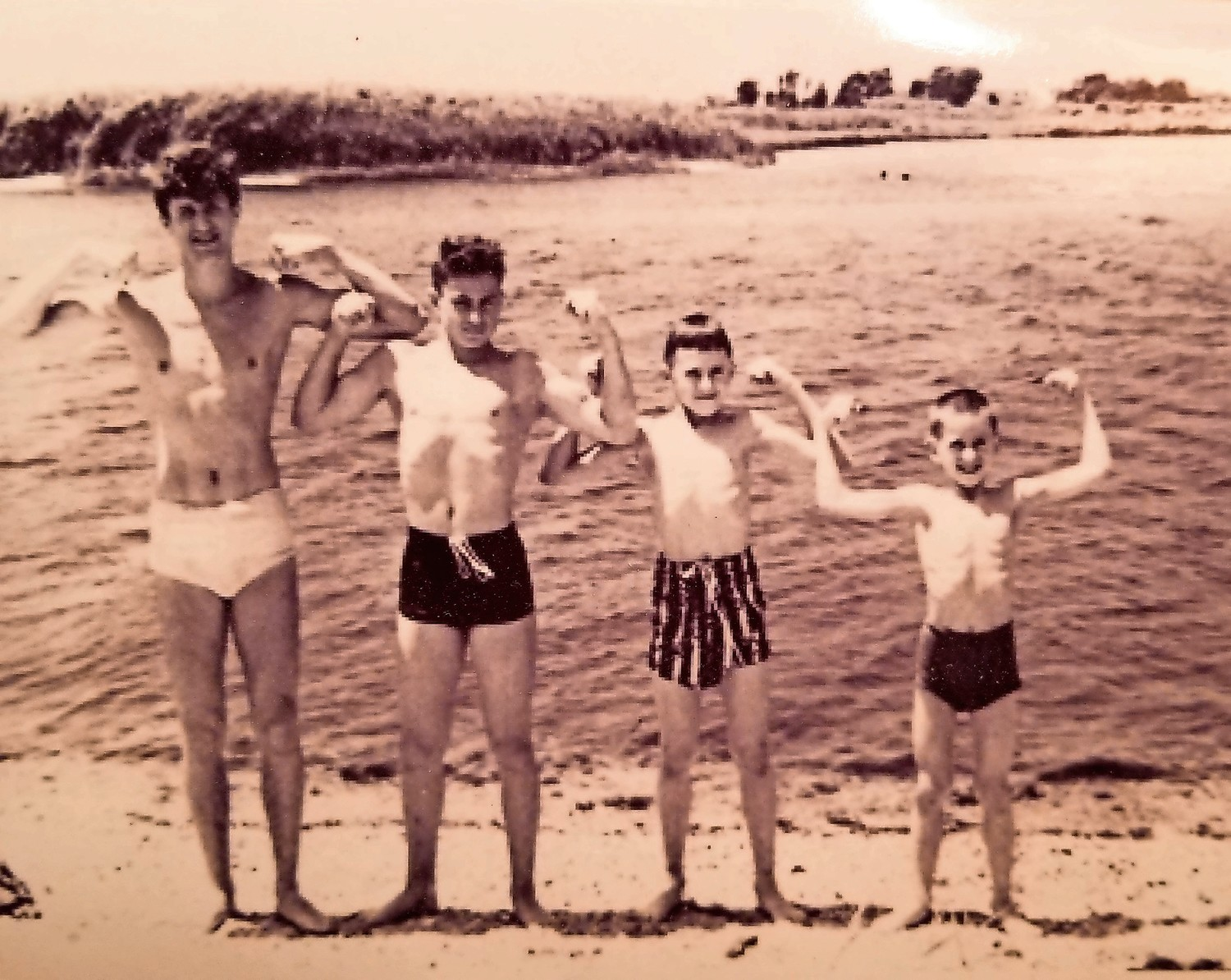 Charlie Franza snapped the shot above of his sons George, left, David, Theodore and Robert in 1949.