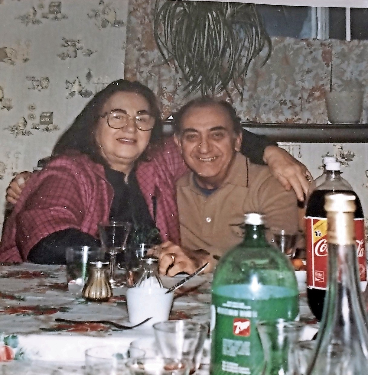 Nettie and Charlie Franza at a holiday party in the 1980s.