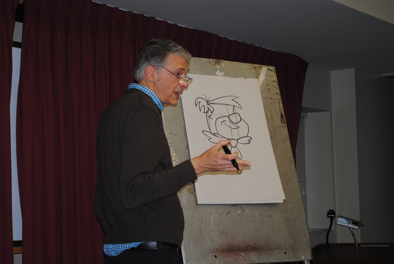 Ed Klein gave each of his drawings out to the students in his class.