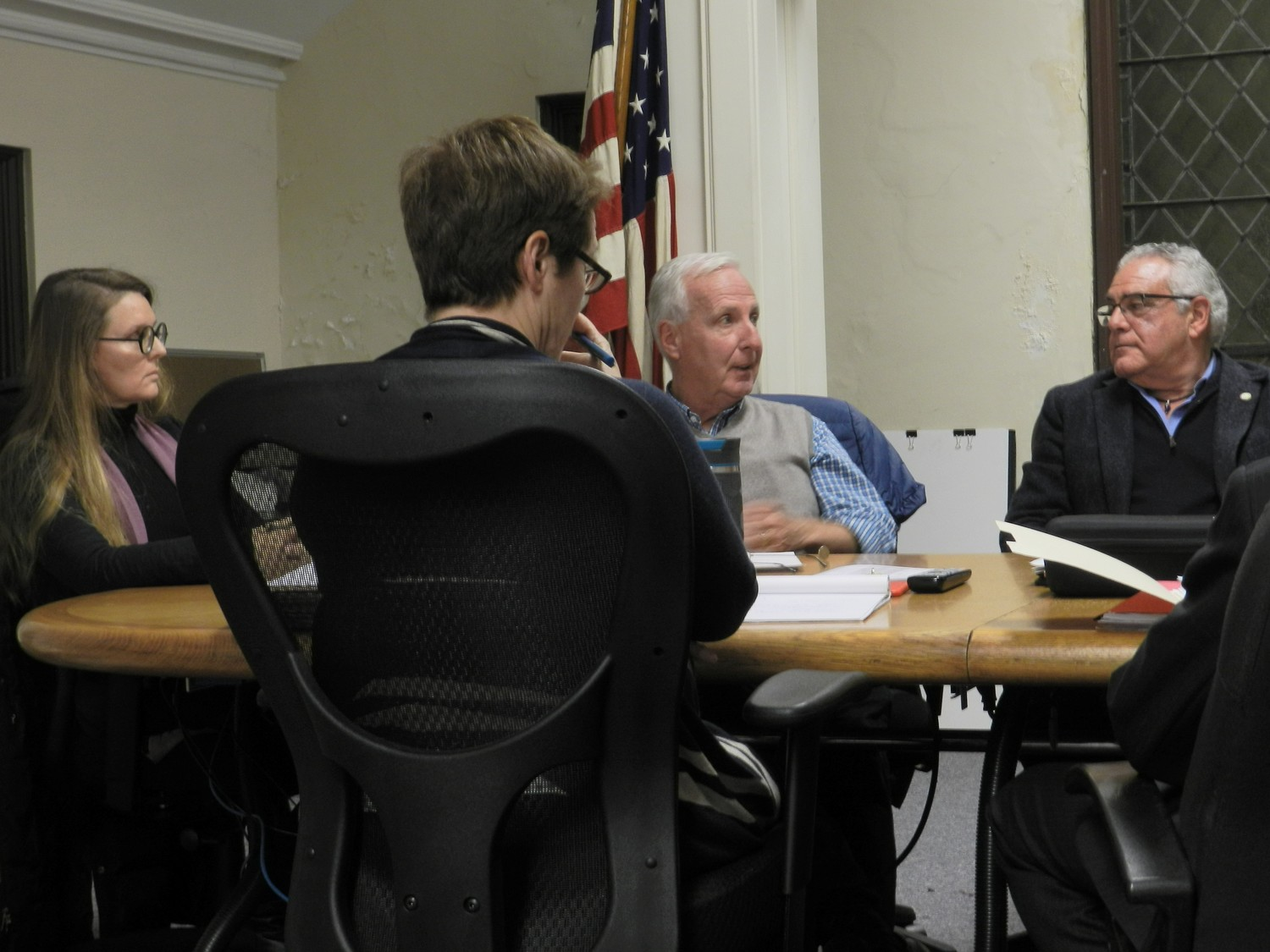 The Village Board held its monthly conference meeting on Monday, at which public comment was allowed.