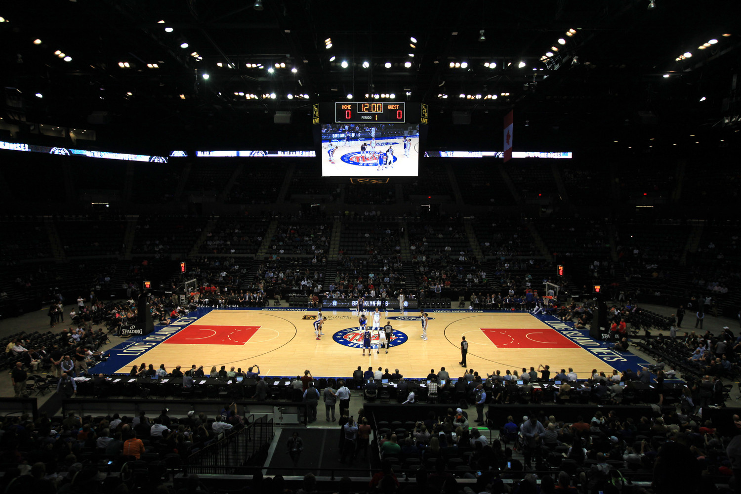 The court at NYCB LIVE Nassau Veterans Memorial Coliseum.