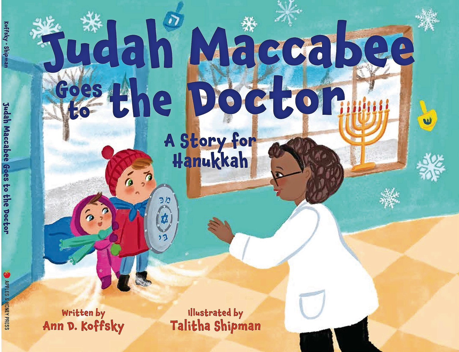 "Koffsky's book, ""Judah Maccabee Goes to the Doctor: A Story for Hanukkah,"" tells the story of a young boy who gets a flu shot."