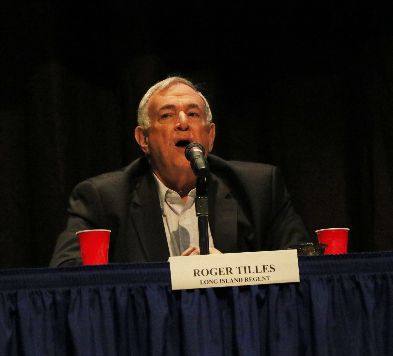 Roger Tilles, of the Long Island Board of Regents spoke to parents at a Rockville Centre High School event in February about diploma options for special needs students.