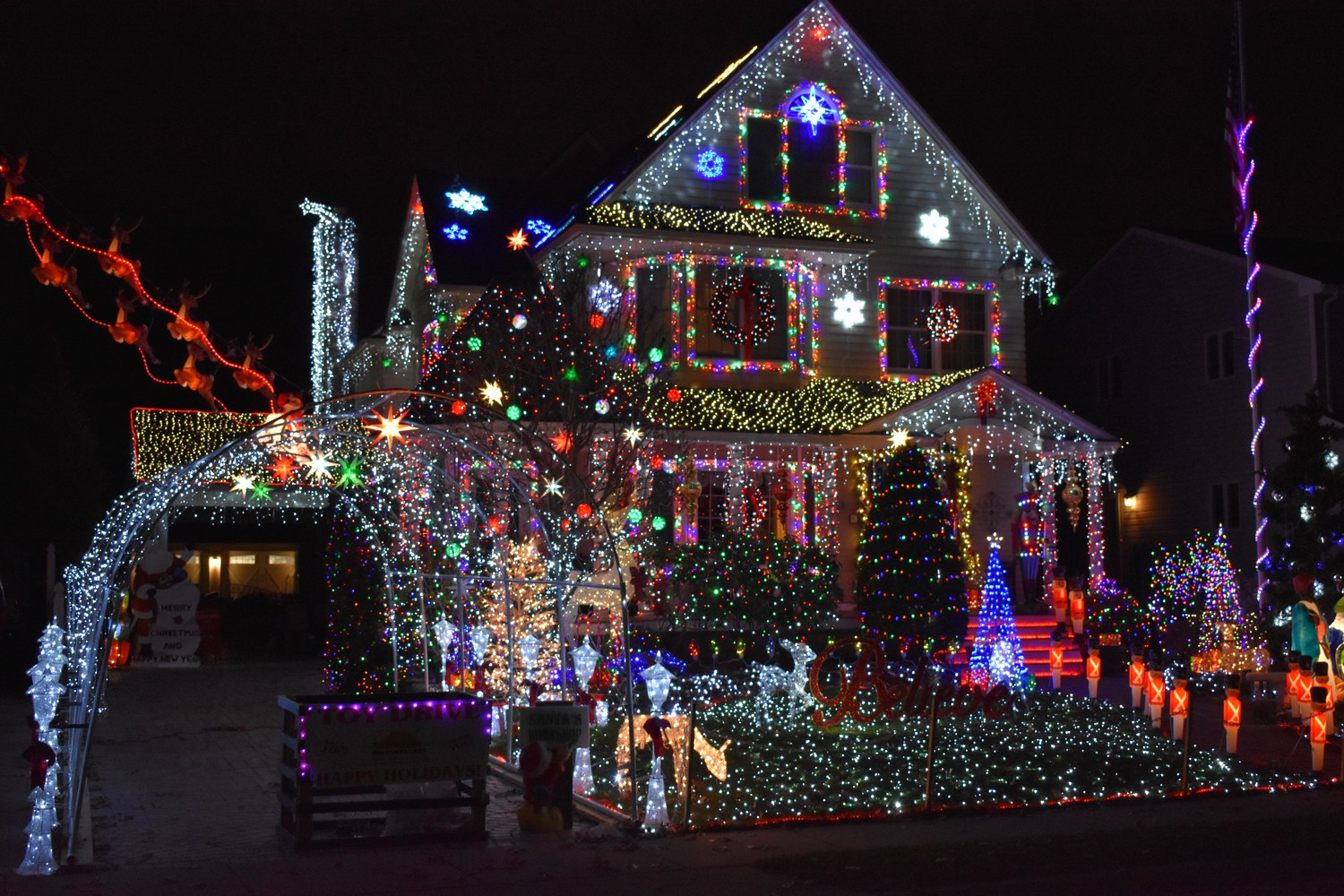 Over the span of more than a month, Rich McQuillan and his family transformed their Cedar Avenue home into a holiday spectacle, with a display that includes nearly 300,000 lights.