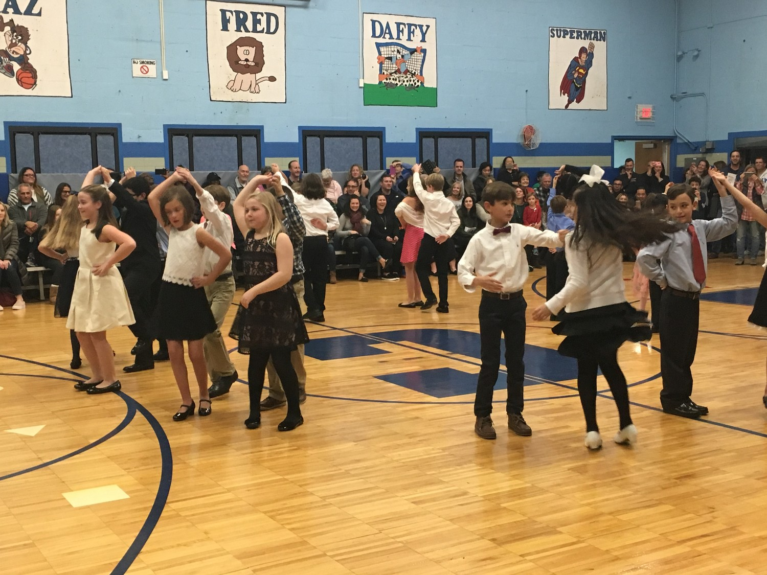 William S. Covert Elementary School students danced the merengue during the culmination of a 10-week ballroom dance training program.