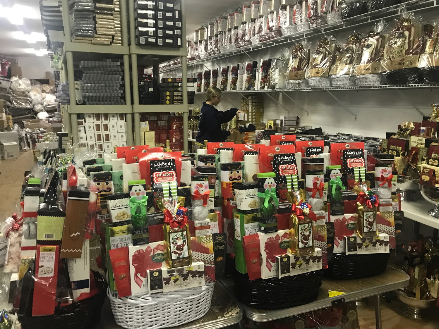 The Pampered Professional puts together a range of gift baskets during the holiday season and throughout the year for corporate and personal customers.