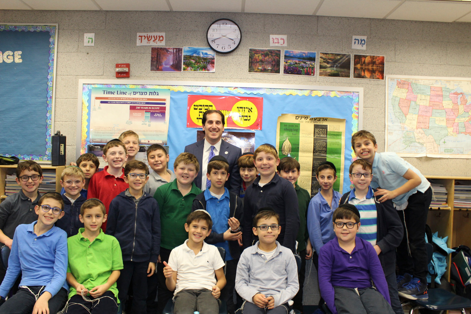 Yeshiva Ketana fourth-graders got to meet State Sen. Todd Kaminsky and learn about state government last month.