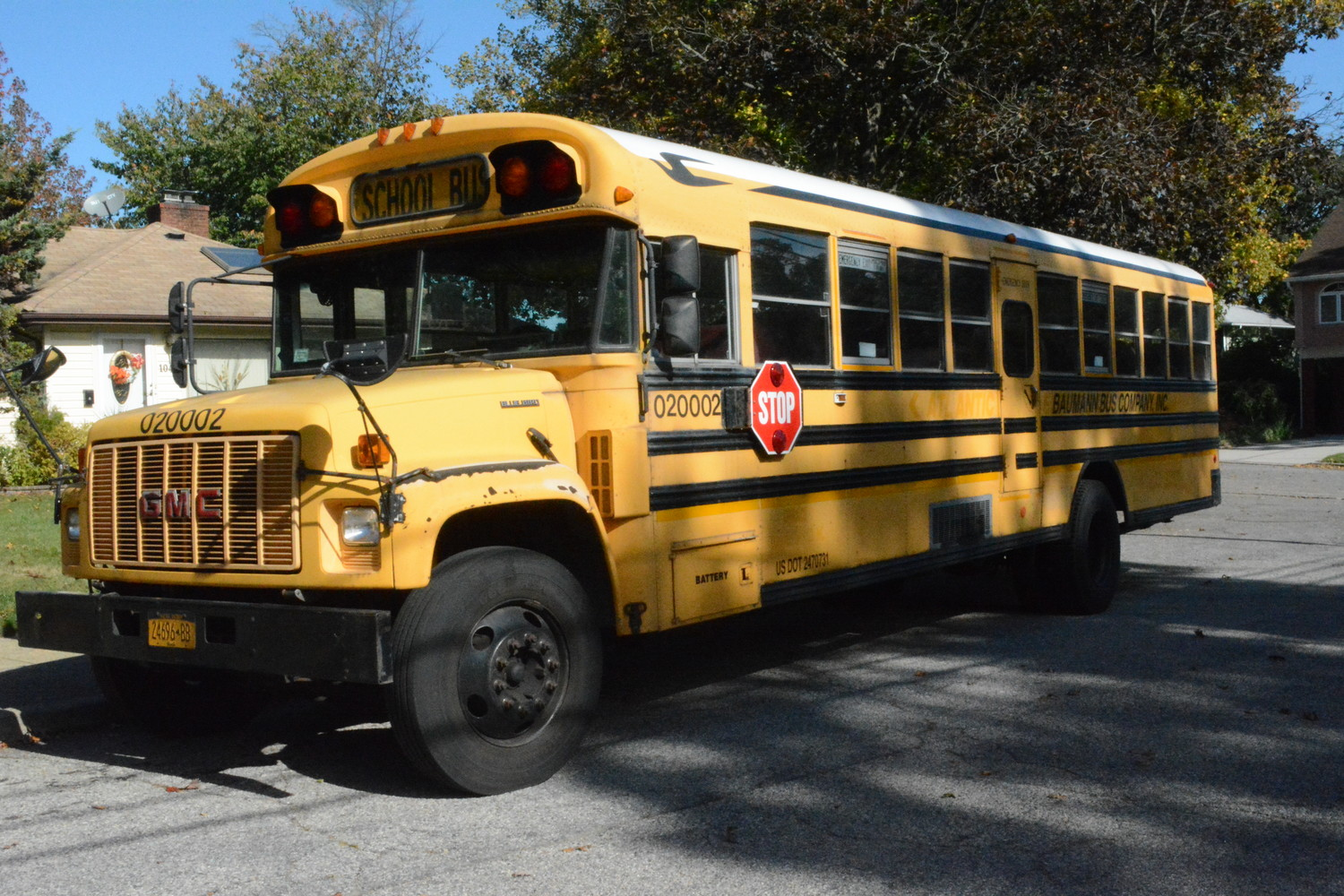 Baumann Bus Company, one of the largest school bus company on Long Island, is going out of business due to the Covid-19 pandemic.