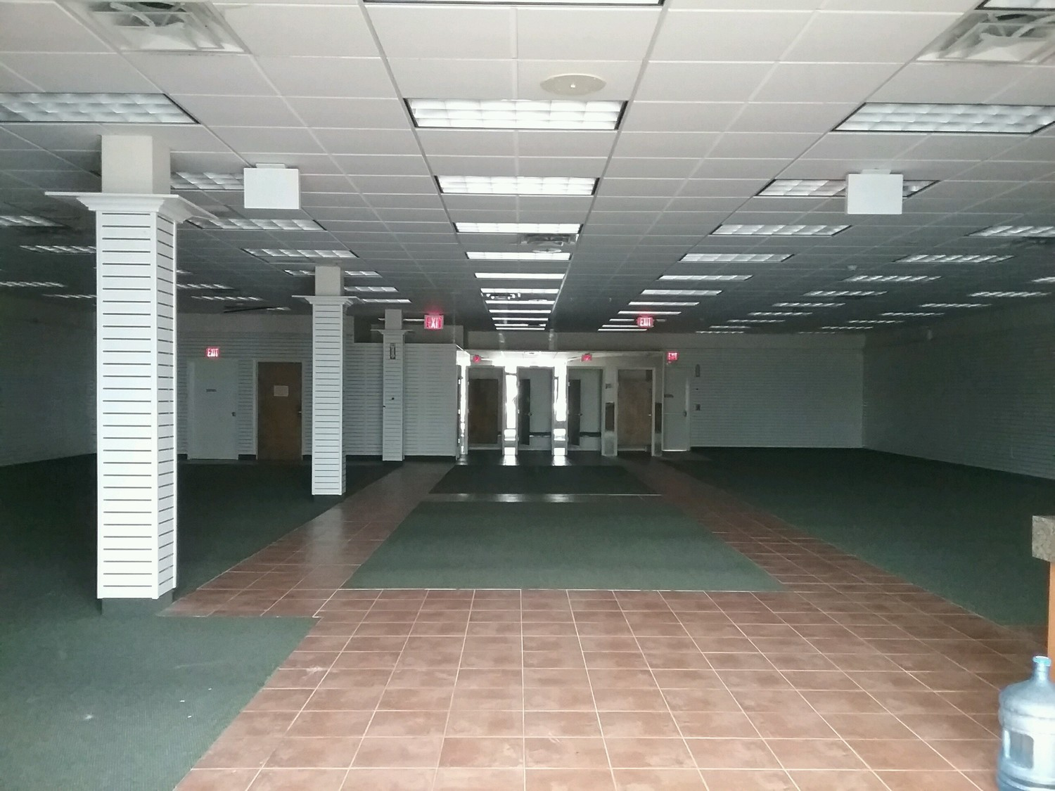 Inside one of the shopping center's vacant properties.