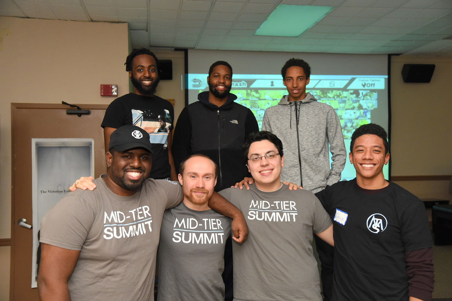 Founders and volunteers of Mid-Tier Summit Gaming held the first ever youth video game tournament at the Freeport memorial library. Pictured from left to right, Nkosi Archibald, Jacky Dugue, Corey Abrahams, Alexander Holcombe, Joe Marchesse-Schmitt, Timothy Moore and Chris Chin.