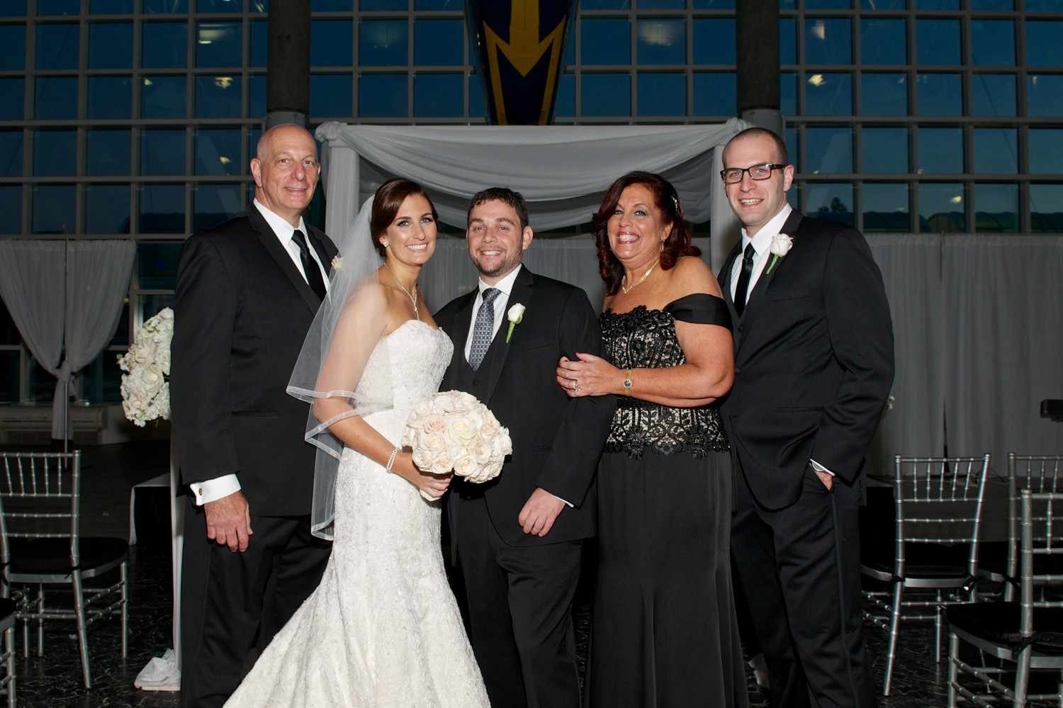 Ed Oppenheimer, left, with his daughter, Sarah, and her husband, Brad Biel; his wife, Ethel; and his son, Andrew, at Sarah's wedding in October 2016.