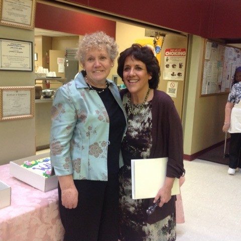 JoAnne Senecal, left, former senior center site manager and now a member, has worked with Waldman for several decades.