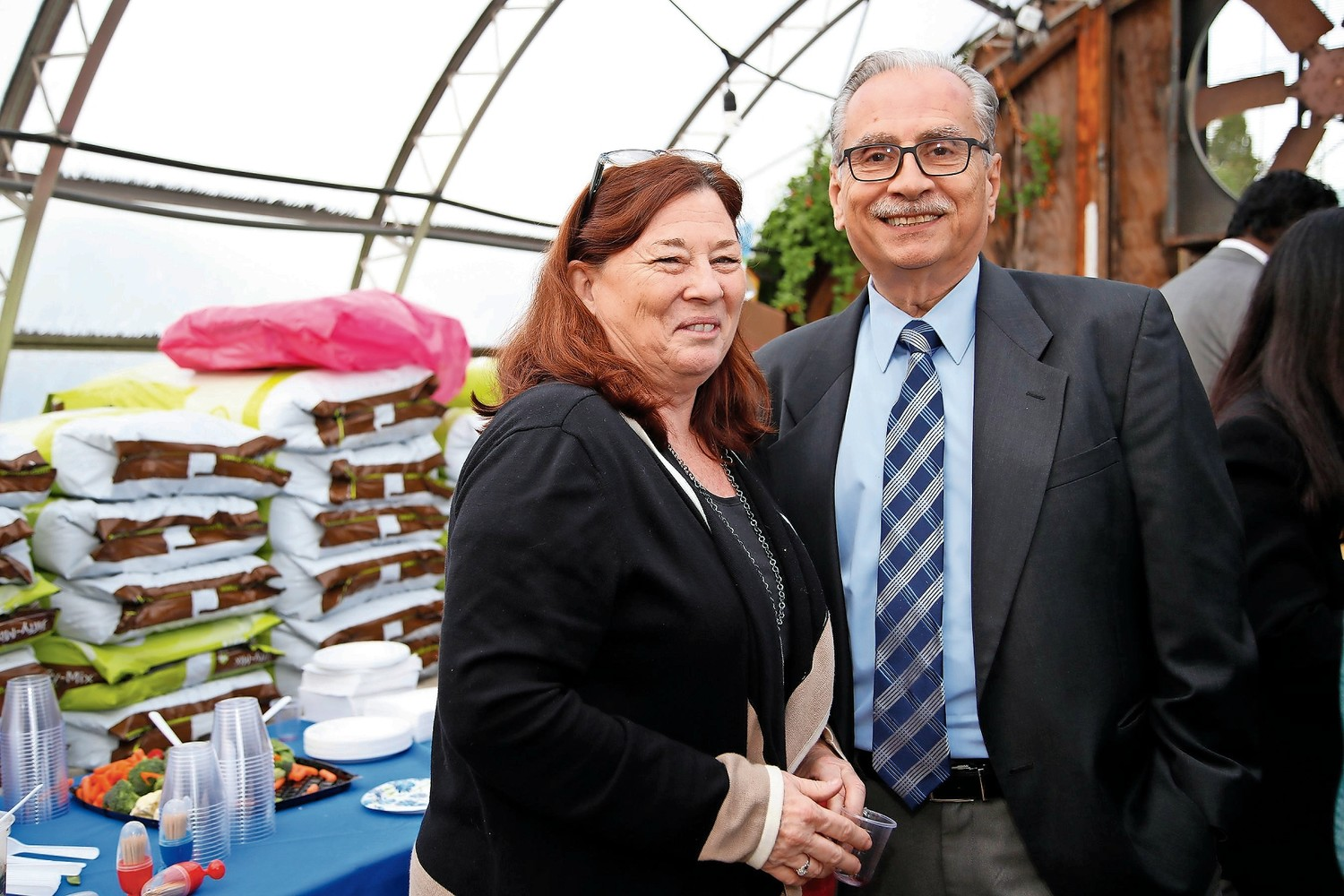 Kathi Monroe has volunteered for many organizations in Malverne, including the Chamber of Commerce. In May, Monroe and chamber member Jack Sorrentino helped coordinate the West Hempstead chamber's annual multi-chamber event at Crossroads Farm in Malverne.