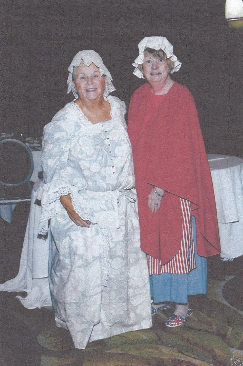 Regent Sandy Leonard, left, and Cook, of the Daughters of the American Revolution's Jerusalem Chapter, have portrayed Agent 355 and Anna Smith Strong, respectively, at educational programs for members of the group and the community.