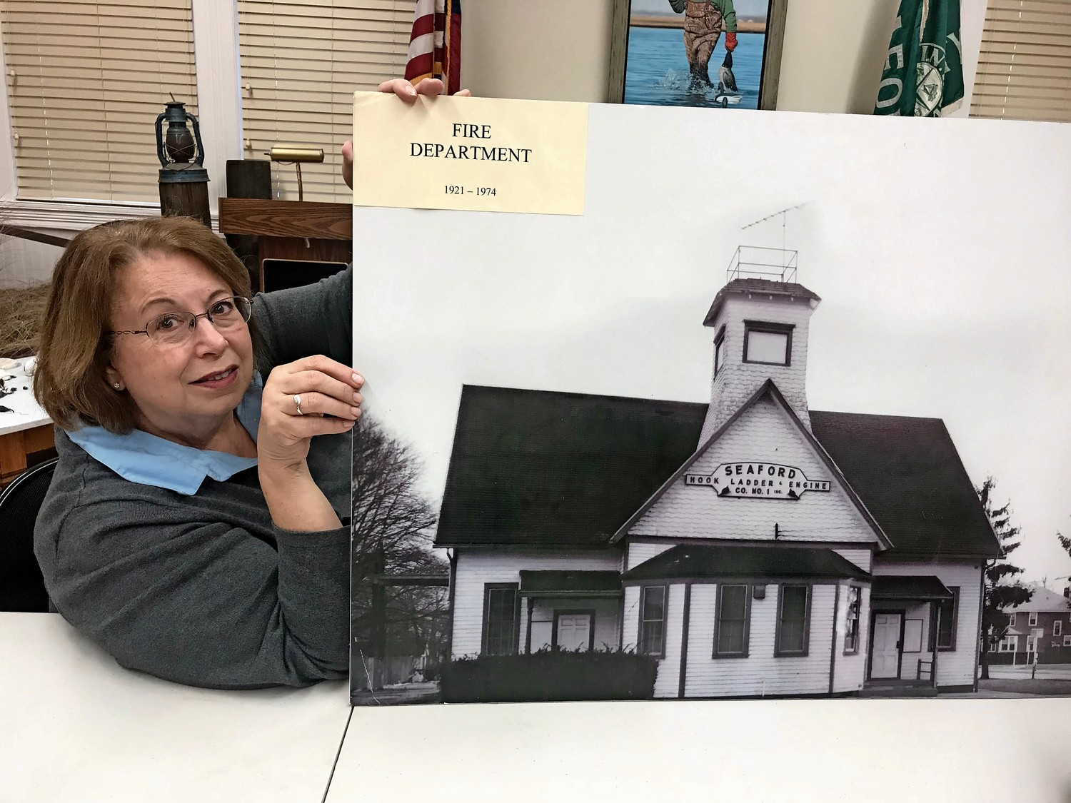 Judy Bongiovi helped refurbish the Seaford Museum on Waverly Avenue. The historic building was once the former schoolhouse in Seaford.