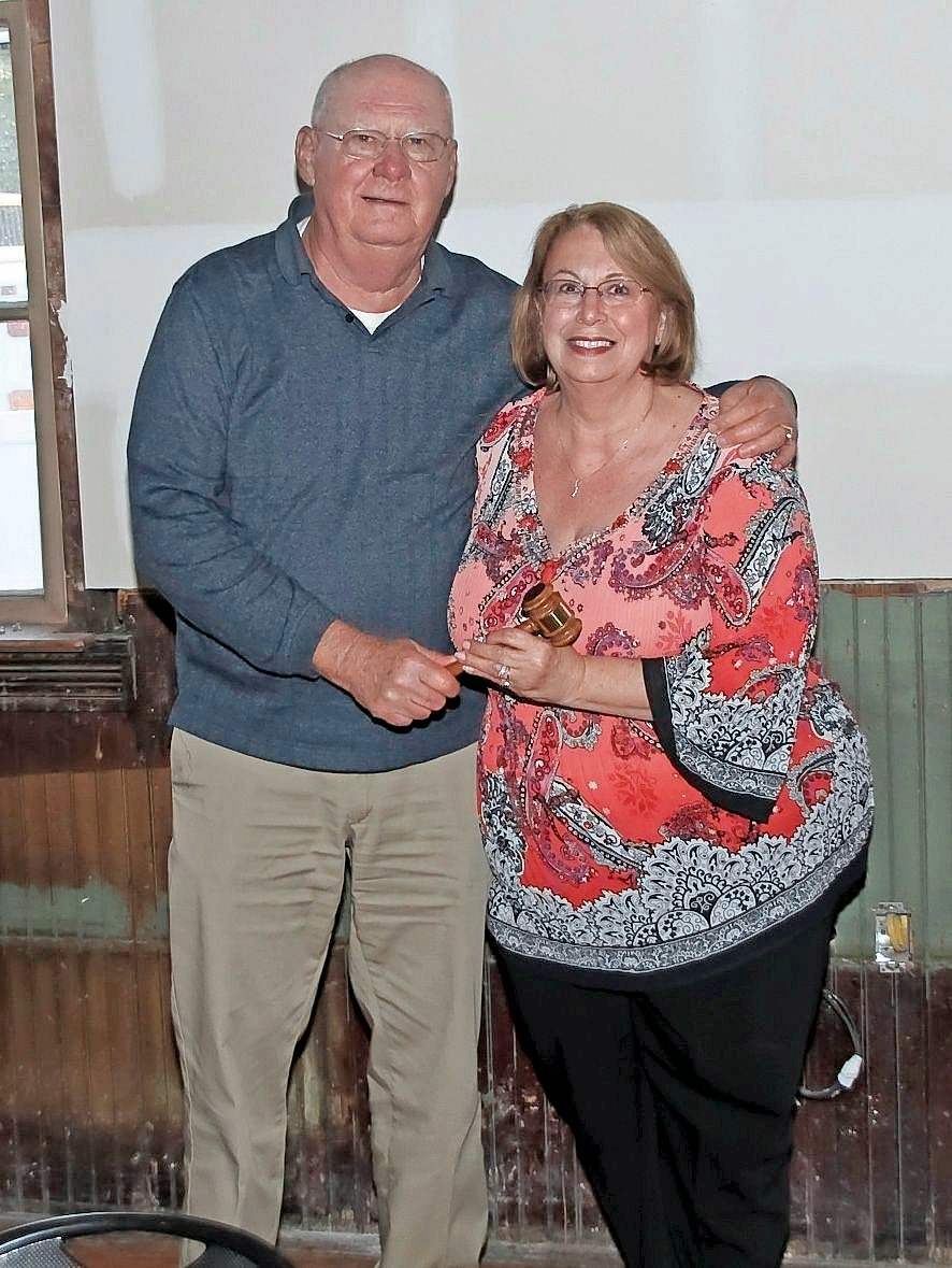 Former historical society President Charlie Wroblewski handed the reins to Judy in 2015.