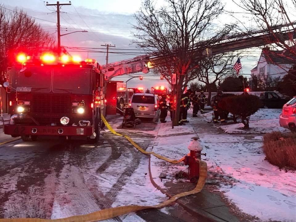 Inwood and Long Beach firefighters helped to extinguish a chimney fire at the Atlantic Beach home of Assemblywoman Melissa Miller on New Year's Eve.