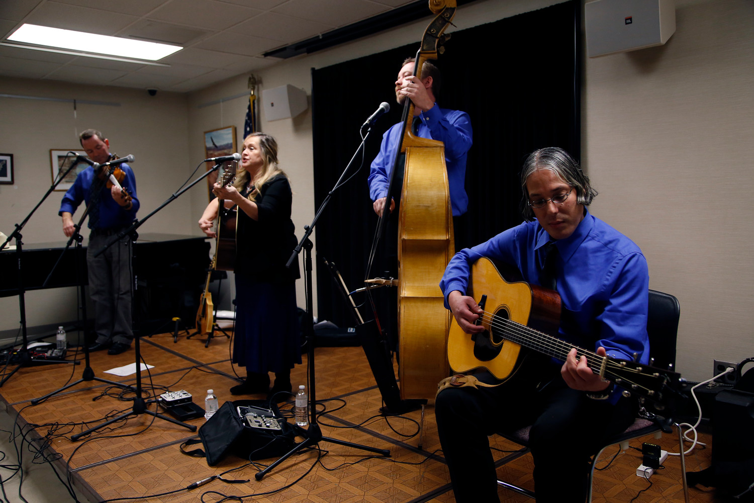 The award-winning bluegrass group Buddy Merriam & Back Roads played a medley of their hits at the East Meadow Public Library last month as part of the library's ongoing concert series.