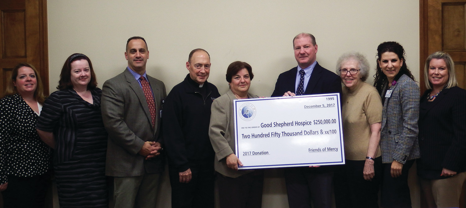 The Friends of Mercy recently pledged to donate $250,000 for a hospice unit.