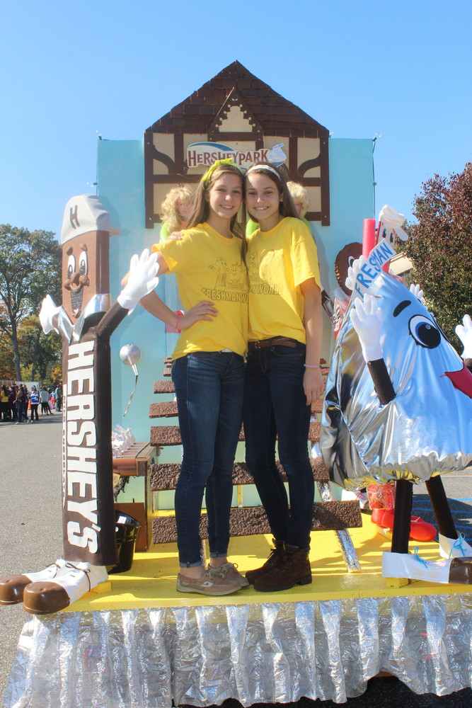 Caroline and Julia Lanzillotta have been involved in Homecoming all four years. As freshman, they helped bring to life the class's Hersheypark-themed float.