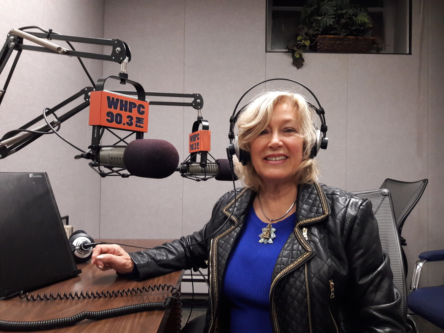 Victoria Crosby records her Elvis Tribute Show twice a year from NCC's radio station WHPC, 90.3 FM in Garden City.