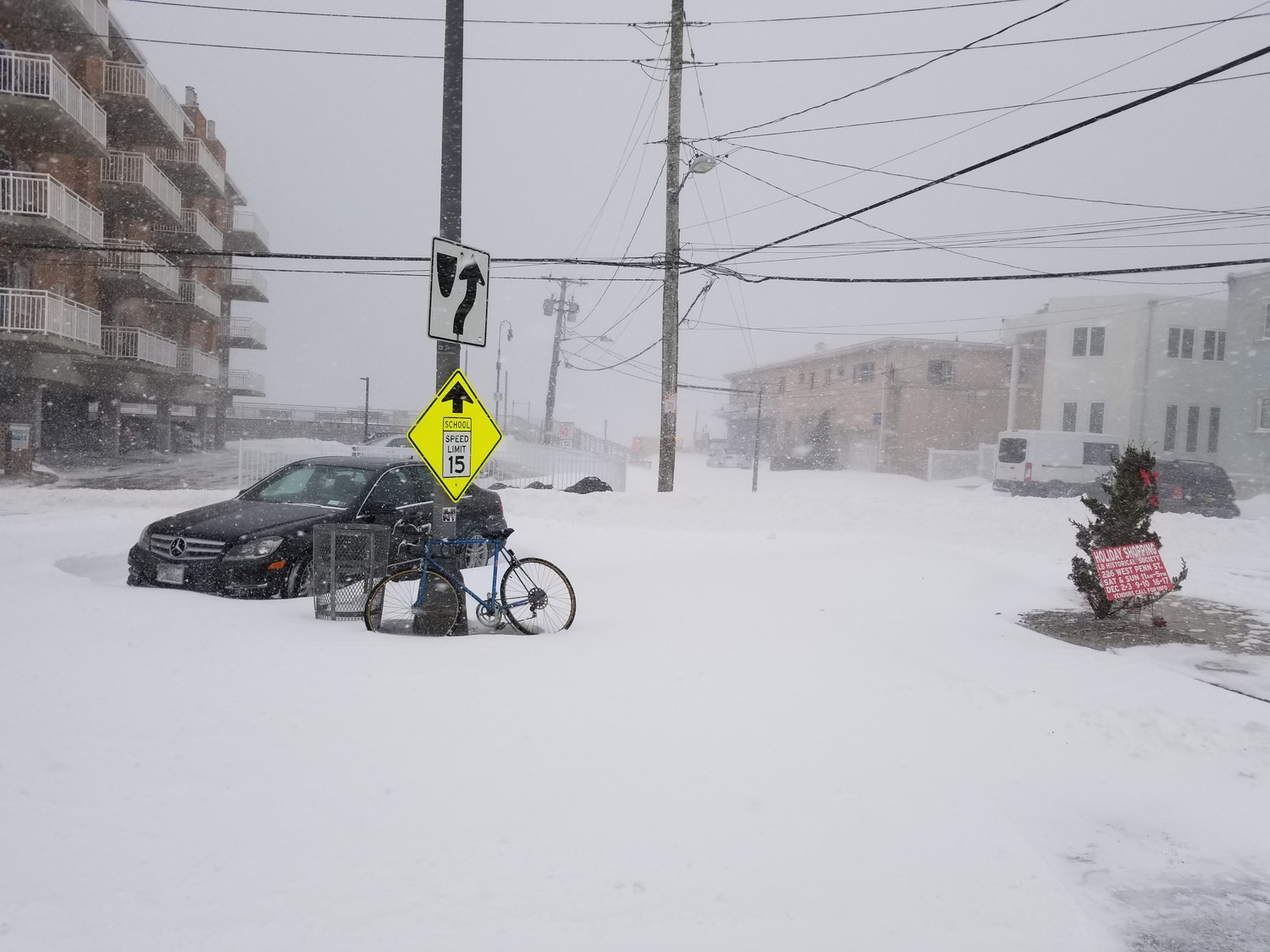 Long Beach was hit with a powerful snowstorm on Thursday. Parts of the barrier island saw up to 14 inches of snow and residents said they saw drifts up to five feet tall.