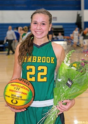 Lynbrook senior Sophia LoCicero reached the 1,000 career point plateau earlier this season and has scored at least 20 points in five of the first 10 games. 