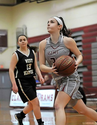 Senior Sonia Iacoboni scored 11 points but Clarke fell to visiting West Hempstead, 56-44, in a Conference A-IV matchup on Jan. 3.