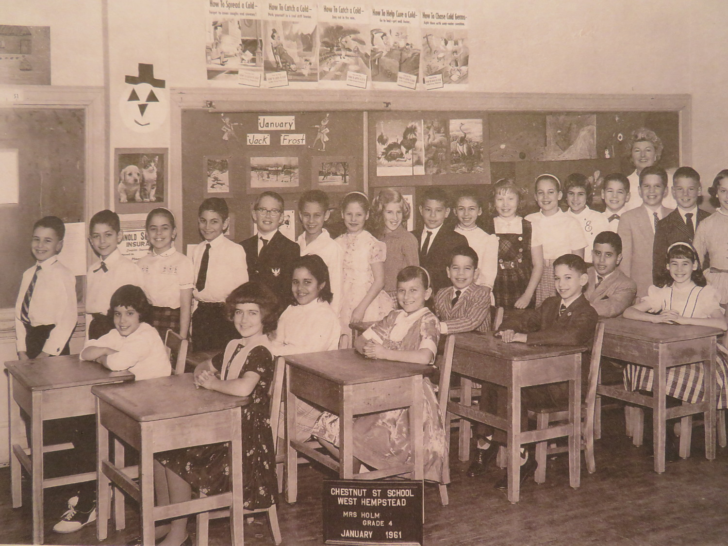 The West Hempstead Historical Society shared several historical photos of Chestnut Street School. Pictured are fourth-graders in 1961.