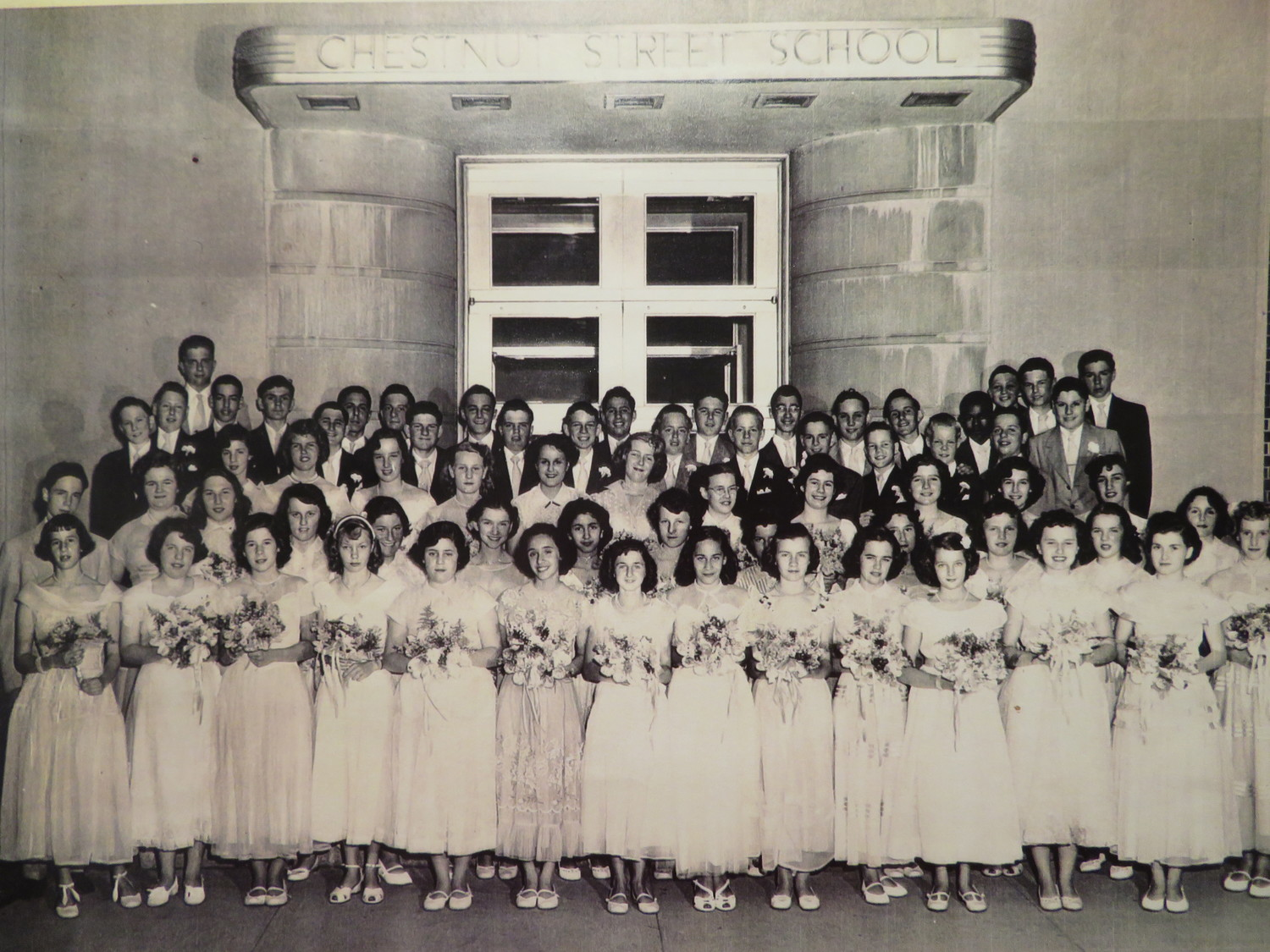 Eighth-graders at Chestnut Street's graduation in 1951.