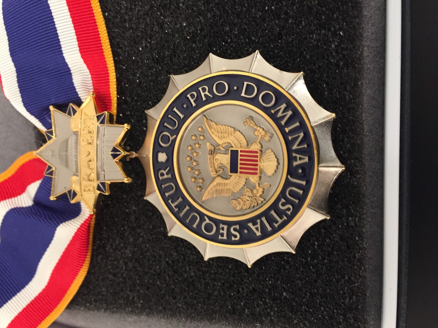 The Congressional Badge of Bravery was created in 2008 to recognize law enforcement officials who demonstrate exceptional bravery.