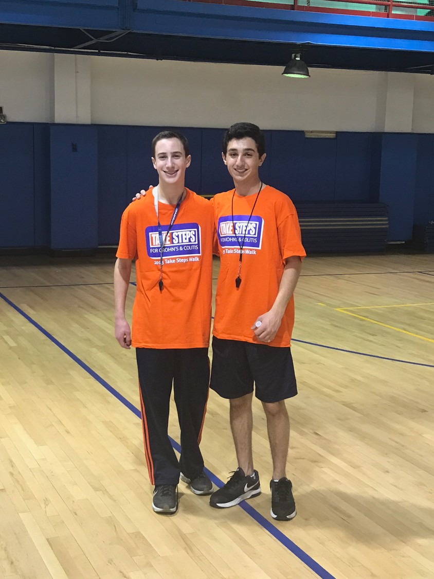 Harrison Gillman, left, and Cameron Mikes met at the Hoops for Harrison tournament three years ago. This year they formed a committee to organize the event.