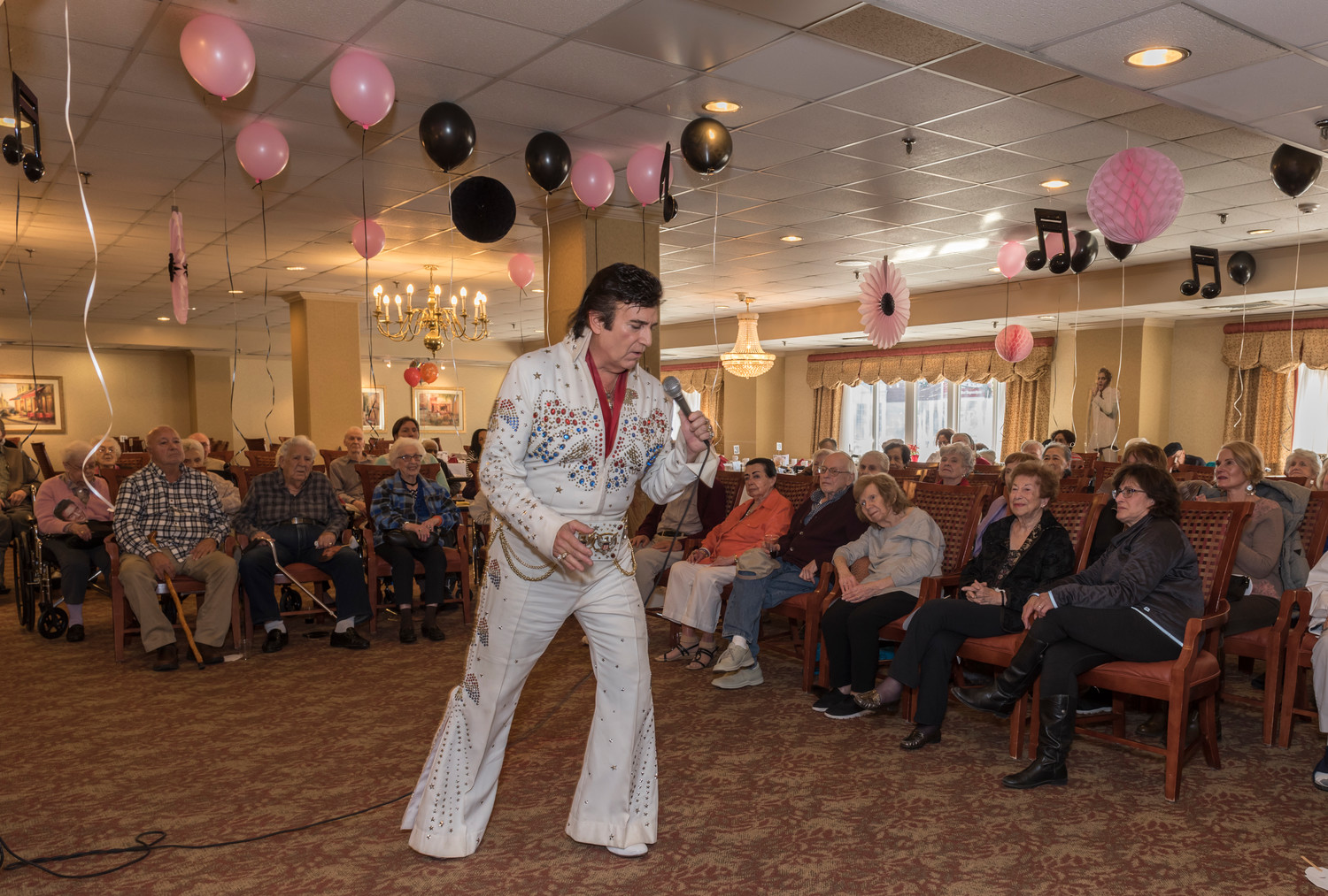 Elvis (Don Anthony) swings his hips as he wows the crowd with classics made famous by the King.