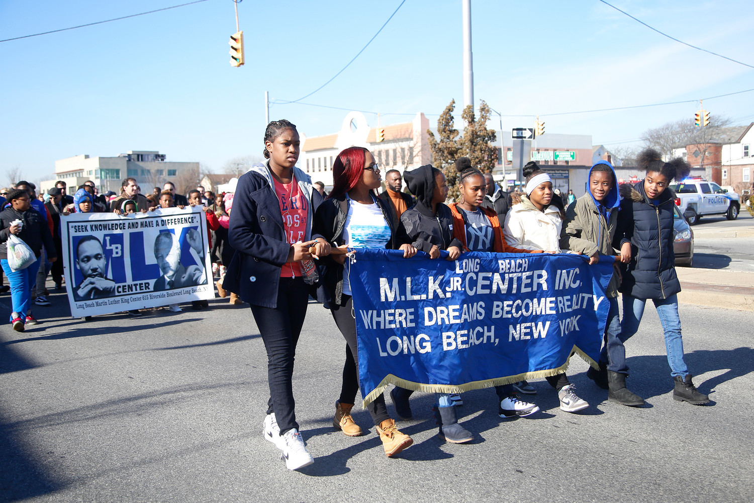 Hundreds turned out for last year's march, which closely followed the route Martin Luther King Jr. walked during his visit to Long Beach in 1968.