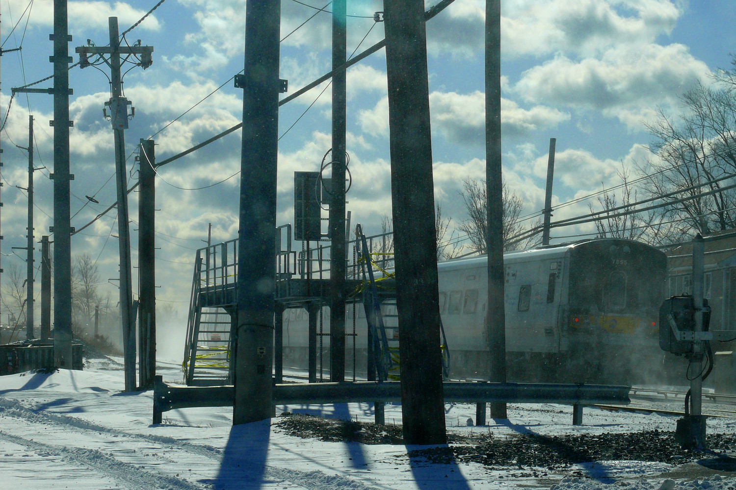 The LIRR got back underway after a series of delays due to the severe weather.