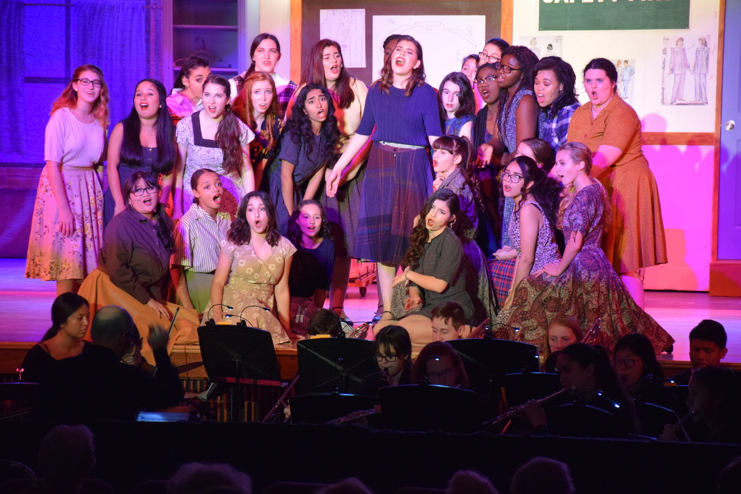 "The members of the East Meadow High School Theatre Guild and music department performed George Abbott and Richard Pike Bissell's ""The Pajama Game"" on Dec. 7, 8 and 9."