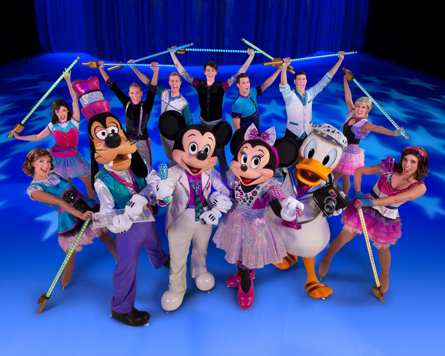 Mickey and his pals, accompanied by the Rock Stars, lead the way in the latest Disney on Ice extravaganza.