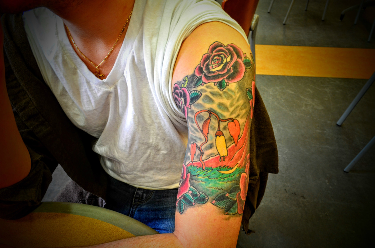 Mark had a tattoo of the film's wilted flower on his arm, which symbolized the need of discovering self-worth.