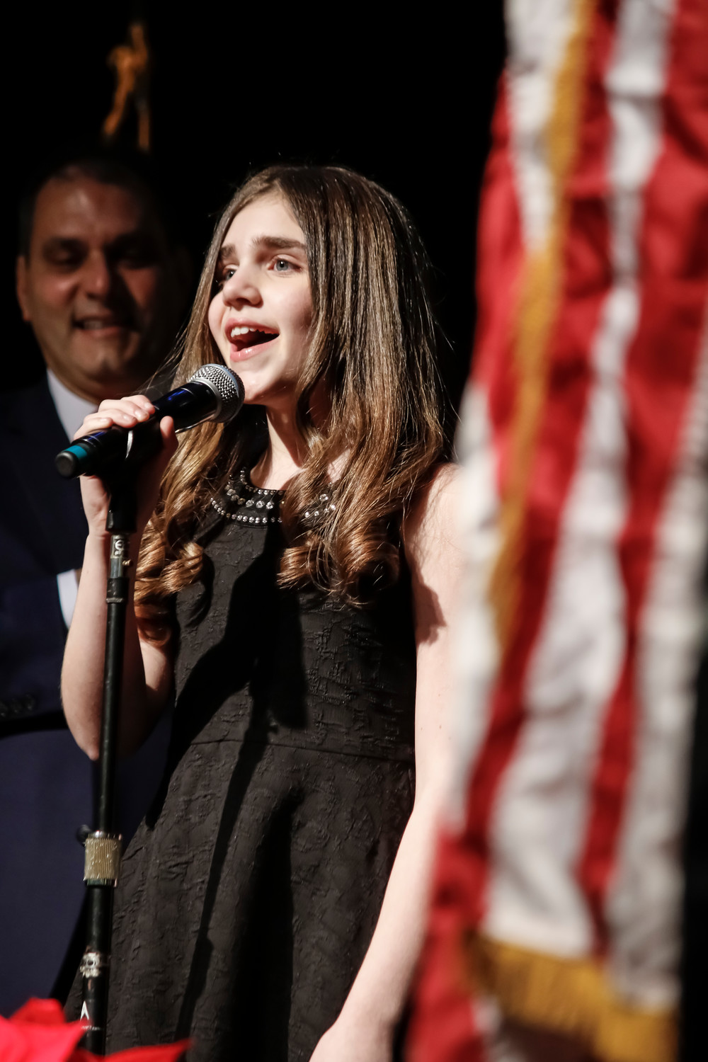 Amanda Swickle gave a stunning performance of the national anthem.