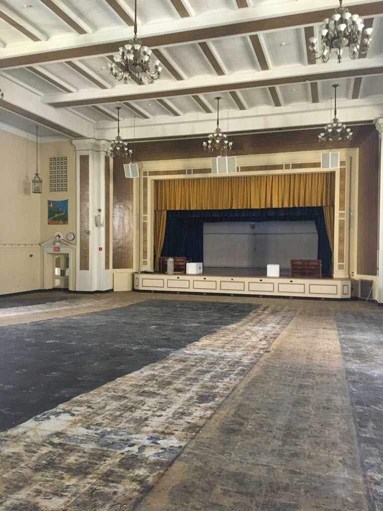 The Broadway Campus auditorium is undergoing a $1.3 million restoration that is projected to be done by next September.
