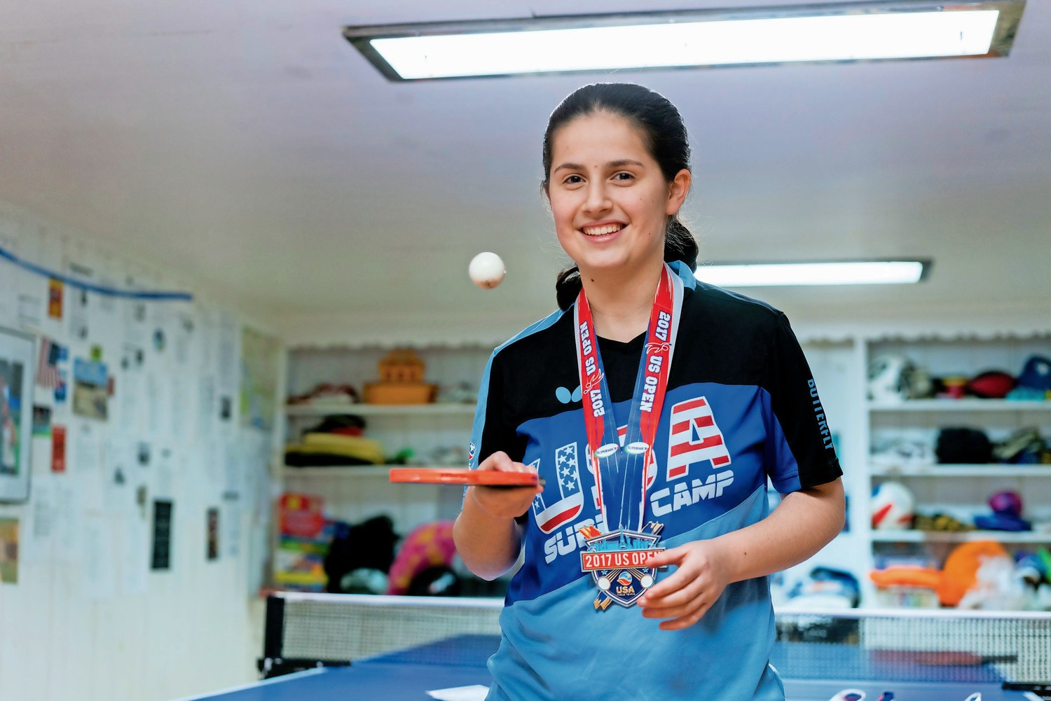 Estee Ackerman, 16, hopes to qualify for the 2020 Summer Olympic Games in Tokyo.