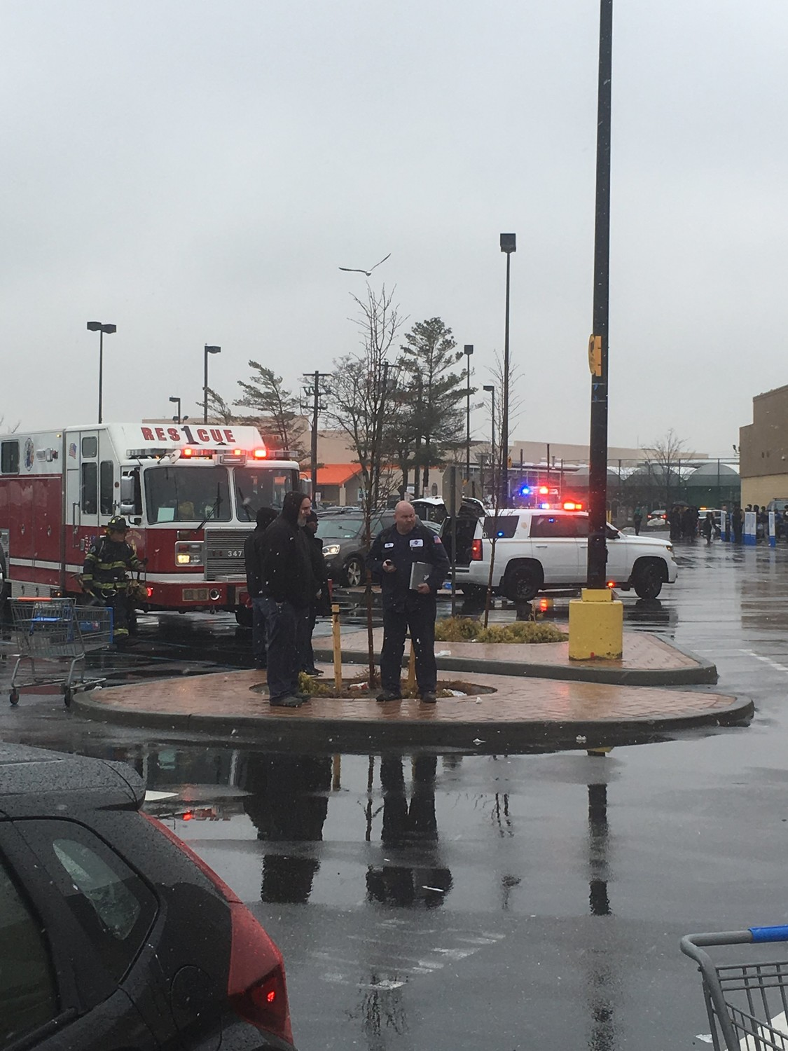 The Walmart at the Green Acres Mall had to be evacuated for a small electrical fire in the meat department.