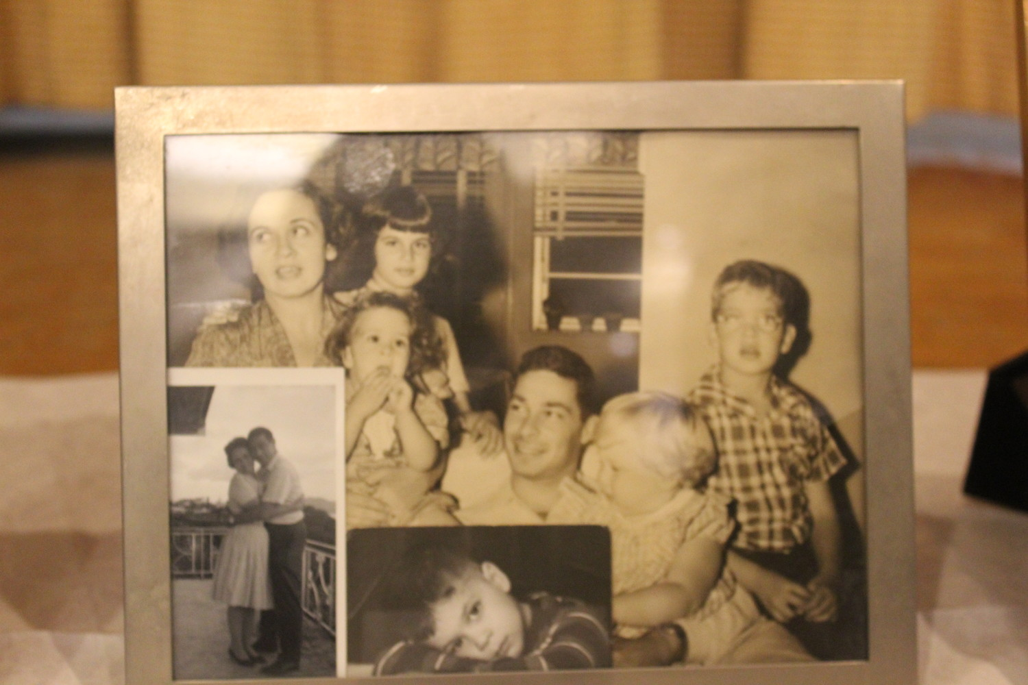 Pictures of the Levy family were on display at the synagogue's Shabbat service last Friday.