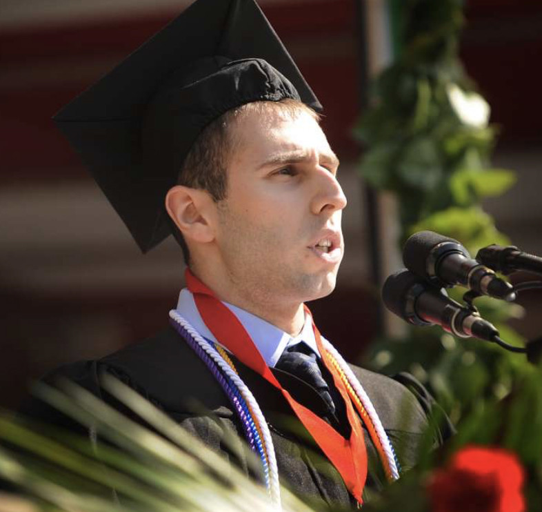 Kenny Kraus went from being a B-student in high school to his class valedictorian at Fairfield University.