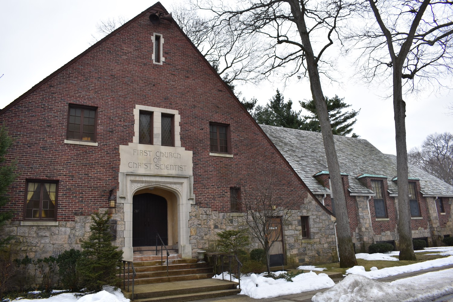 The First Church of Christ, Scientist, at 285 Morris Ave. in Rockville Centre, has welcomed followers since 1931.