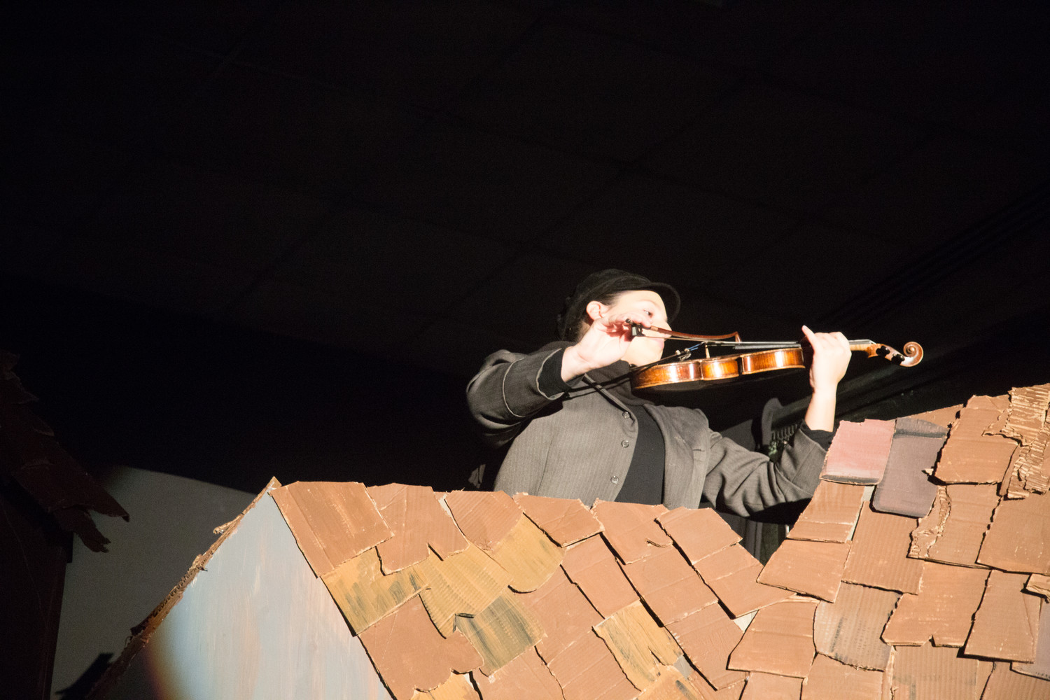 In honor of its last show in East Meadow, Temple Emanu-El is performing Fiddler on the Roof— the same show that re-launched its musical theater program in 2003. There will be performances on Jan. 20 at 8 p.m. and 21 at 2 p.m. Ashley Sanders, 17, plays the fiddler after whom the play is named.