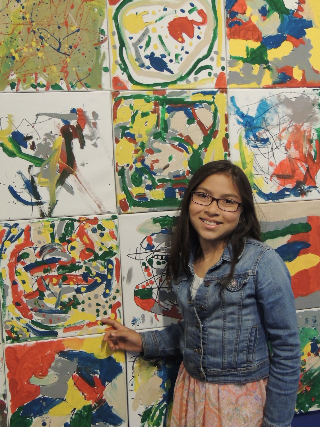 Teens create abstract art as part of the de Kooning initiative during sessions held in libraries across Nassau County.