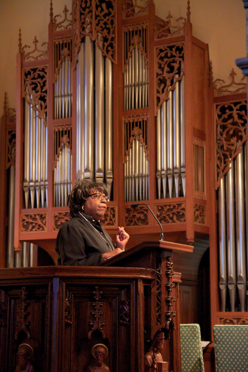 The Rev. Linda Vanager's sermon honored the Rev. Dr. Martin Luther King Jr., but also called for parishioners to actively follow his teachings.