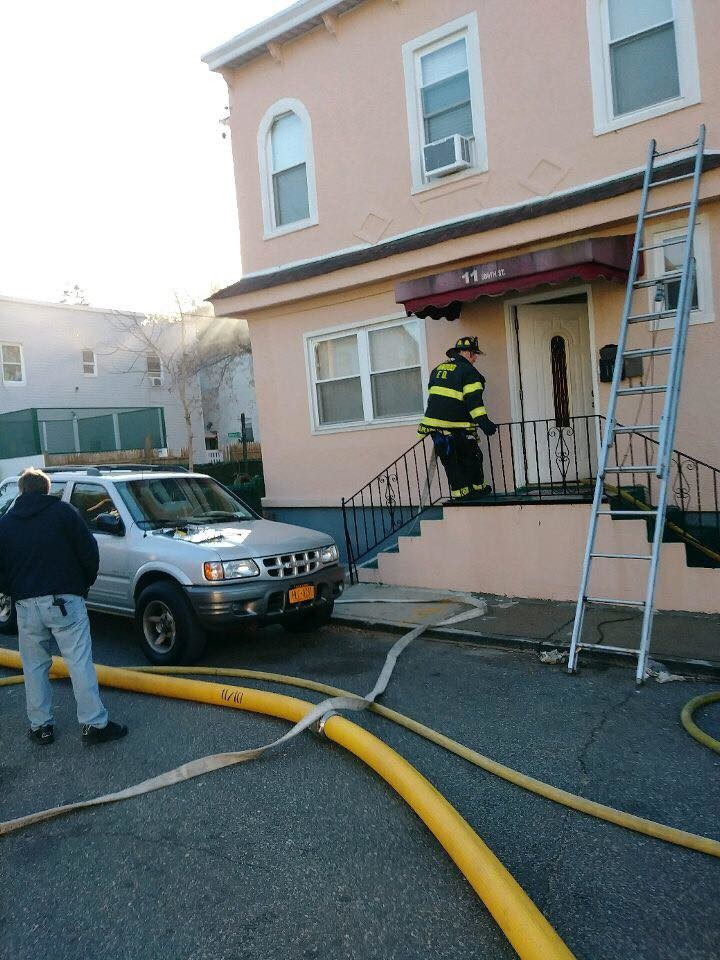 The flames inside the building at 11 Smith Street in Inwood were extinguished within a half hour of the call coming in.
