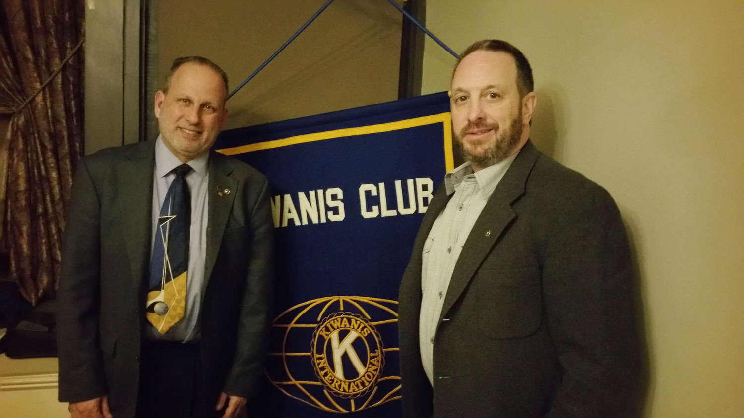 Peninsula Kiwanis increased its membership with the induction of Far Rockaway resident Bennett Pearlman, right, with club President Michael Gliner.